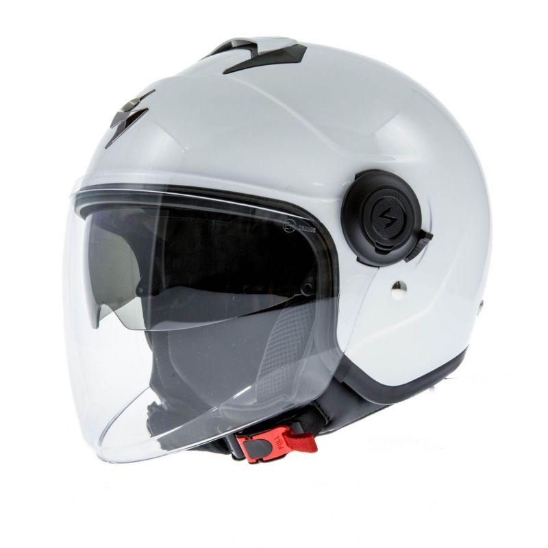 casque jet scorpion exo city blanc casques moto sur la b canerie. Black Bedroom Furniture Sets. Home Design Ideas