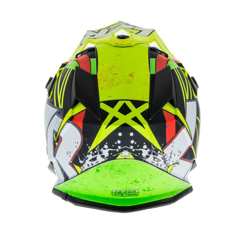 Casque cross Lazer OR1 Aerial carbone/jaune/rouge - 4