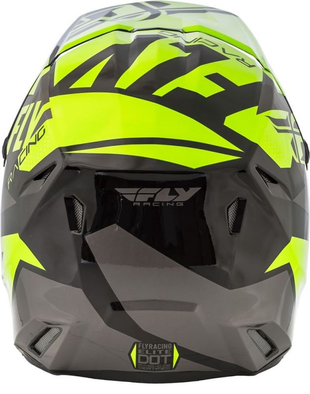 Casque cross Fly Racing Elite Guild gris/jaune fluo - 2