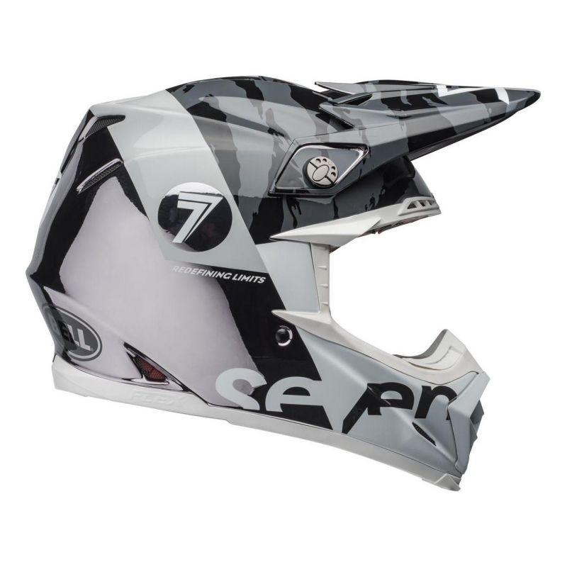 Casque cross Bell Moto-9 Flex Seven Zone noir/blanc/chrome - 4