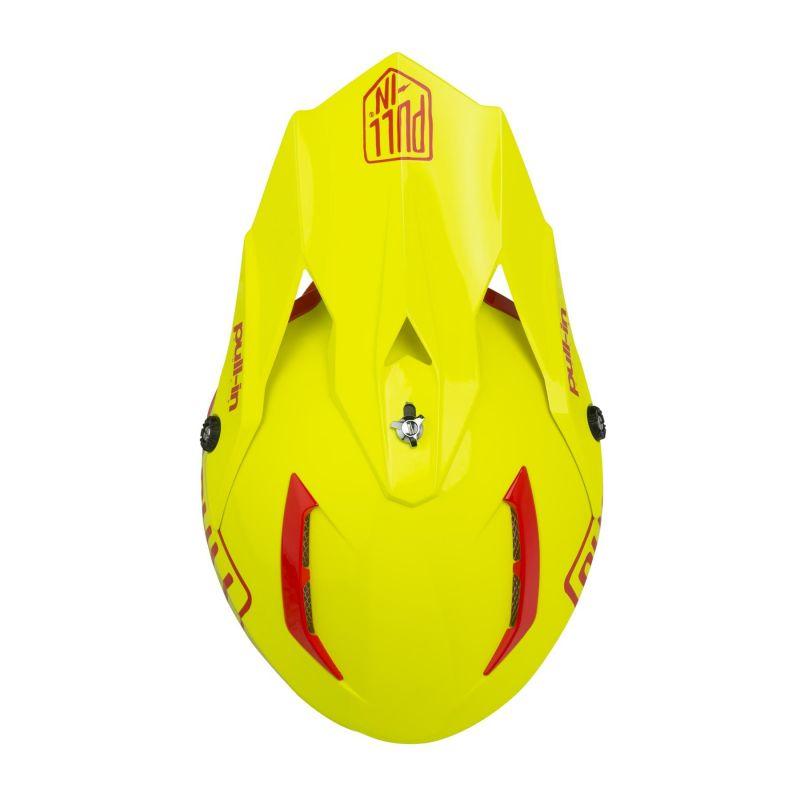 Casque cross Pull-in Solid jaune fluo - 2