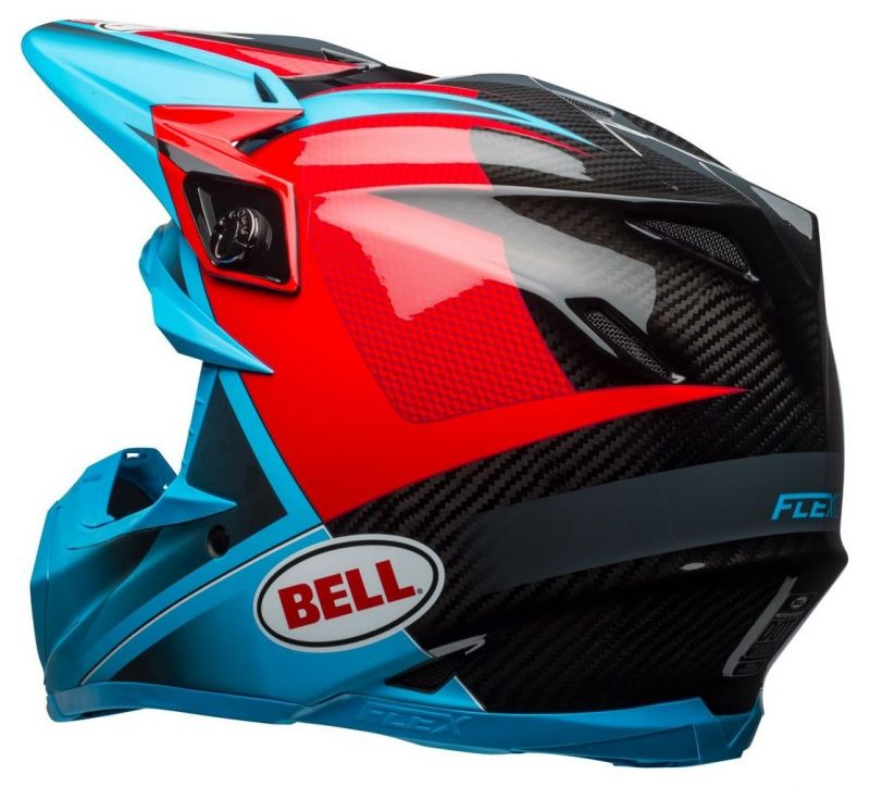 Casque cross Bell Moto 9 Flex Hound Gloss bleu mat/rouge - 6