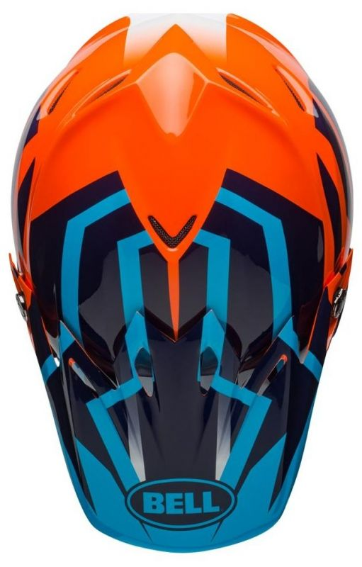 Casque cross Bell Moto 9 Mips Gloss bleu/orange district - 8