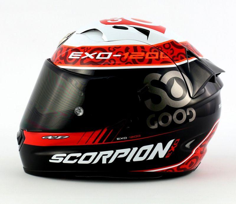 casque int gral scorpion exo 1200 air replica charpentier noir blanc rouge casques moto sur la. Black Bedroom Furniture Sets. Home Design Ideas
