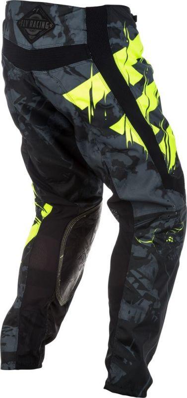 Pantalon cross Fly Racing Kinetic Outlaw noir/jaune fluo - 3