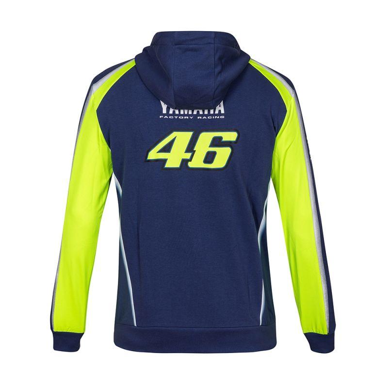 Sweat zip capuche VR46 Valentino Rossi Yamaha Racing bleu 2018 - 1