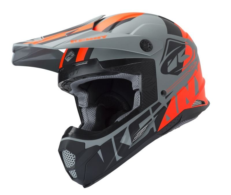 Casque cross Kenny Track gris
