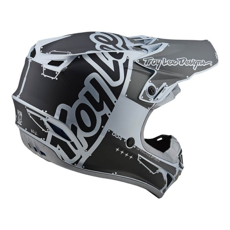 Casque cross Troy Lee Designs SE4 Polyacrylite Factory Mat silver - 2