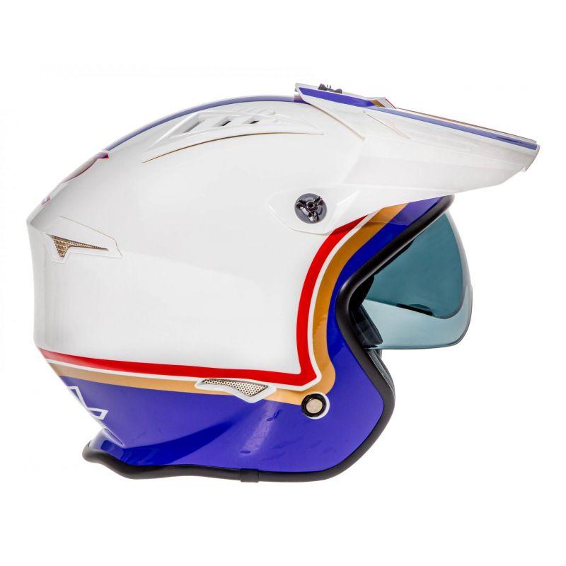 Casque jet O'Neal Volt Rothmans blanc/violet/rouge - 2