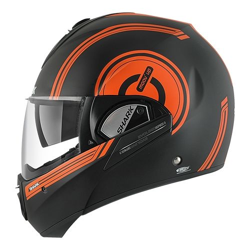 casque modulable shark evoline 3 moov up mat noir orange noir pi ces casques moto sur la b canerie. Black Bedroom Furniture Sets. Home Design Ideas
