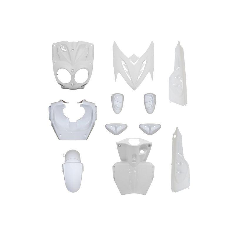 kit carrosserie 11 pi ces blanc avec pads blanc adaptable stunt slider pi ces car nage sur la. Black Bedroom Furniture Sets. Home Design Ideas