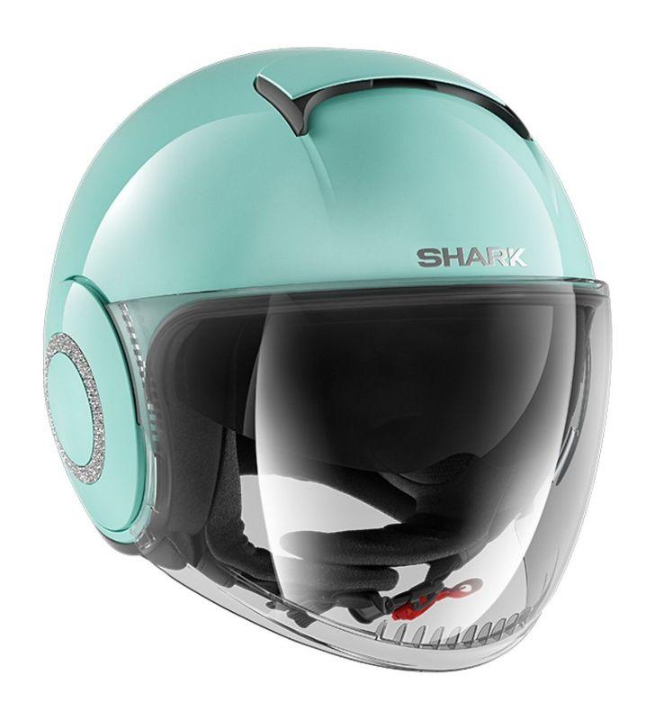 Casque Jet Shark Nano Swarovski Blank Vert Casques Moto Sur La