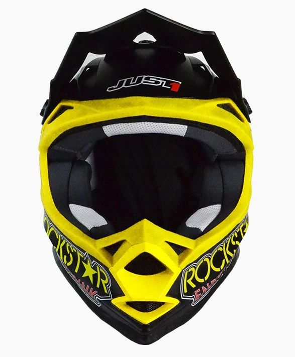 Casque cross Just1 J32 Rockstar noir mat - 1