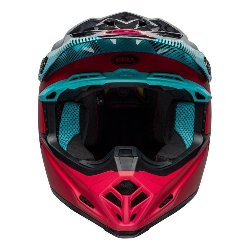 Casque cross Bell Moto-9 Mips Chief noir/rose/bleu - 3
