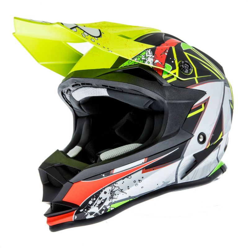 Casque cross Lazer OR1 Aerial carbone/jaune/rouge