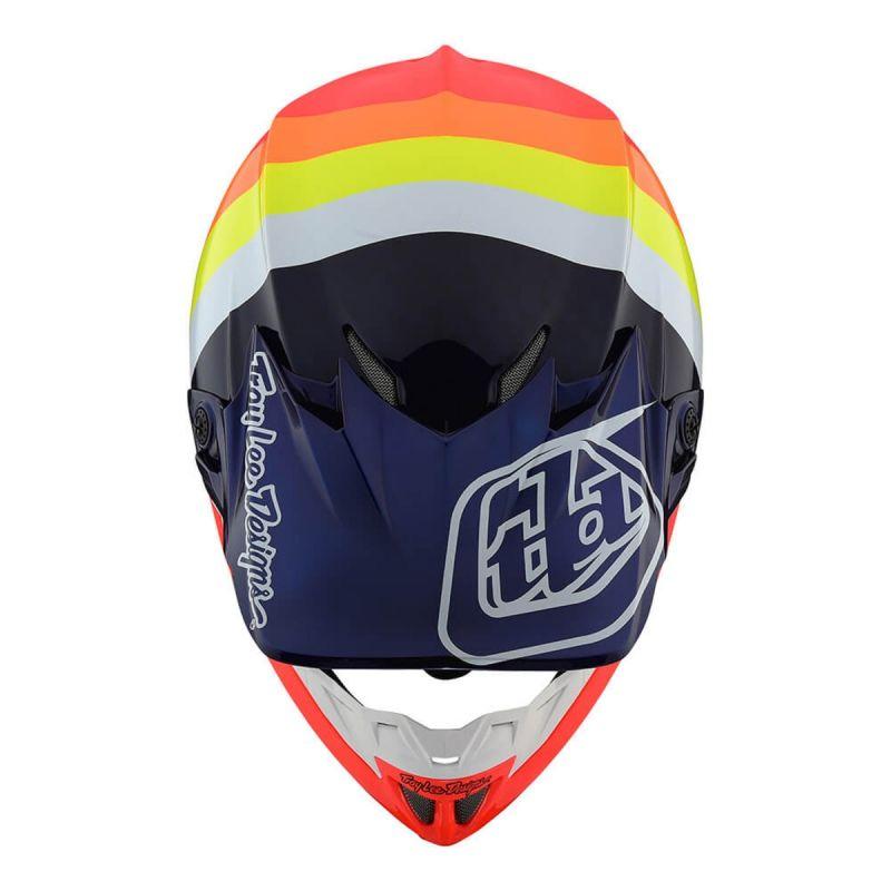 Casque cross Troy Lee Designs SE4 Carbon Mirage bleu/rouge - 3