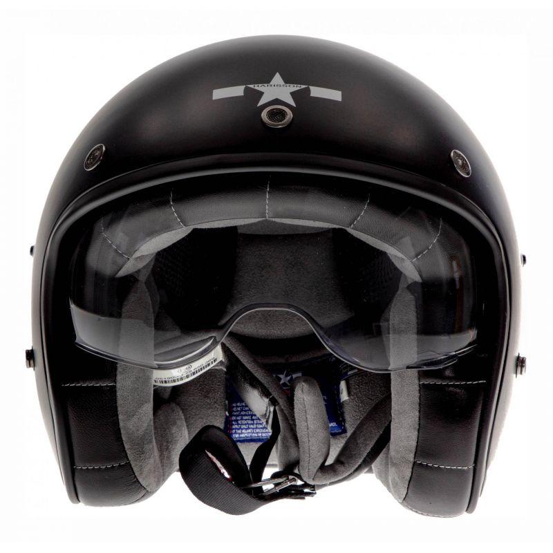 Casque jet Harisson Corsair Star Déco noir/blanc mat - 3
