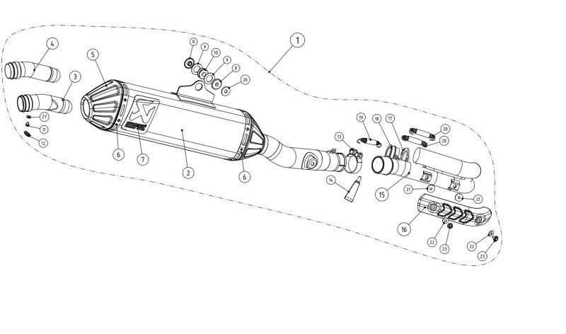Ligne complète Akrapovic Evolution Titanium Kawasaki KX 450 F 09-15 - 1
