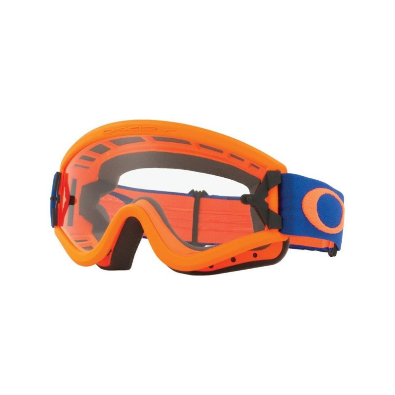 Masque cross Oakley L Frame orange/bleu écran transparent