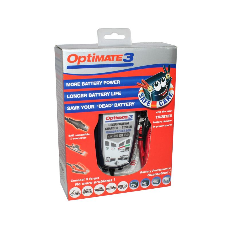 Chargeur batterie 12V Tecmate Optimate 3