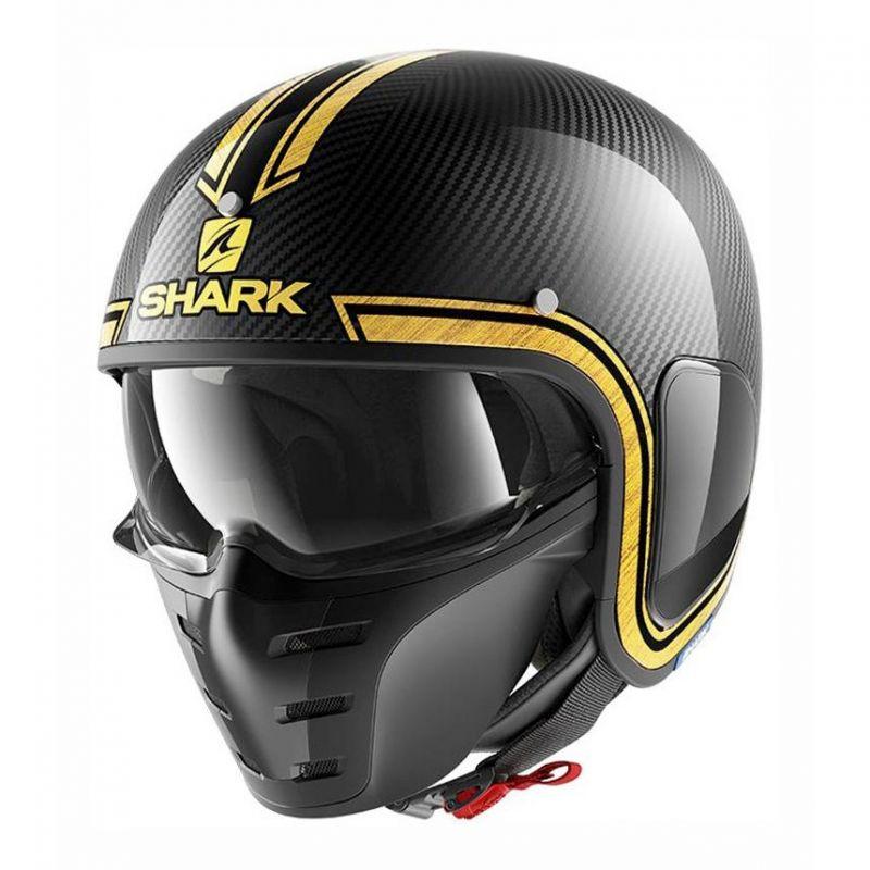 Casque jet Shark S-DRAK VINTA carbone/chrome/or