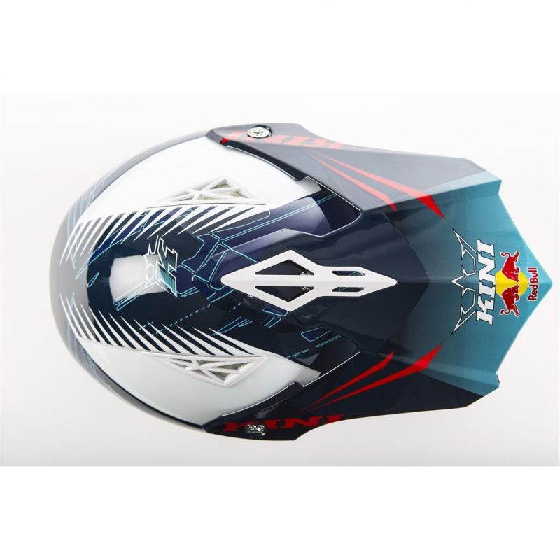 Casque cross Kini Red Bull Competition bleu marine - 1