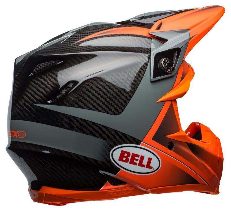 Casque cross Bell Moto 9 Flex Hound Gloss orange mat/charcoal - 5