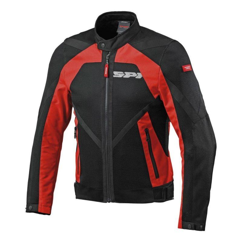 Blouson textile Spidi NETSTREAM rouge/noir