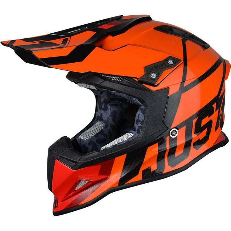 casque cross just1 j12 unit orange carbone casques moto sur la b canerie. Black Bedroom Furniture Sets. Home Design Ideas