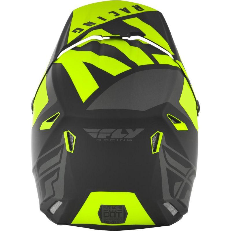 Casque cross Fly Racing Elite Vigilant noir/jaune - 3