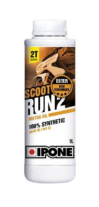 huile moteur 2t ipone scoot run 2 1l lubrifiant sur la b canerie. Black Bedroom Furniture Sets. Home Design Ideas