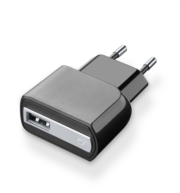 Chargeur de batterie Cellularline Ultra Compact avec port USB