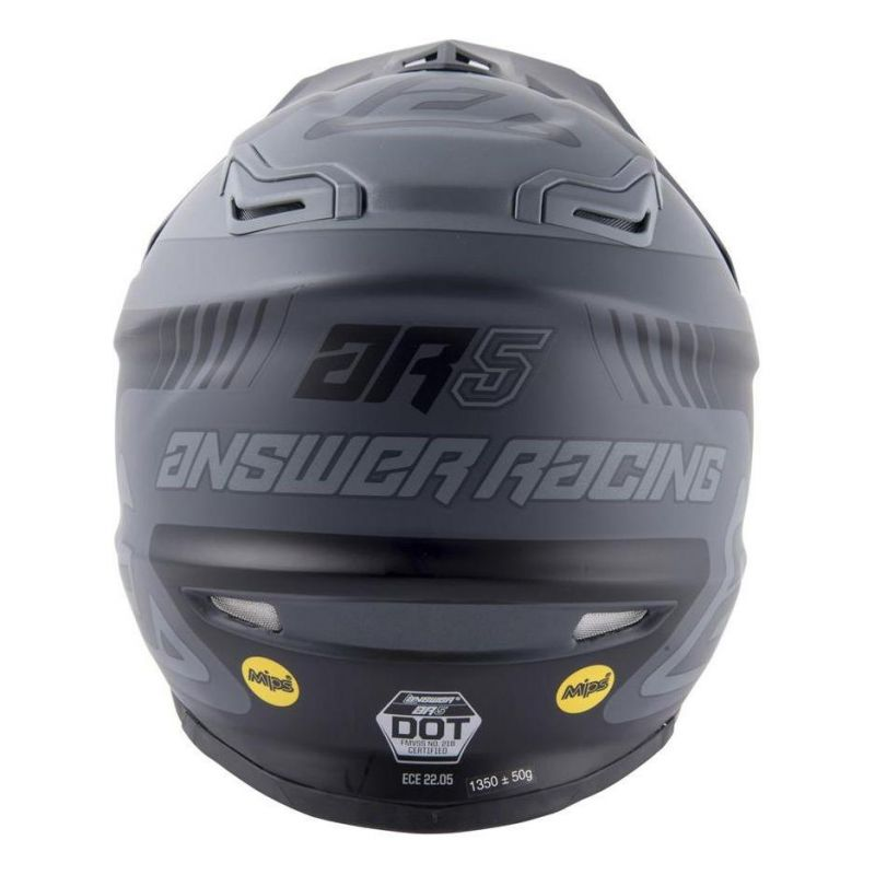 Casque cross Answer AR5 Pulse charcoal/gris - 5