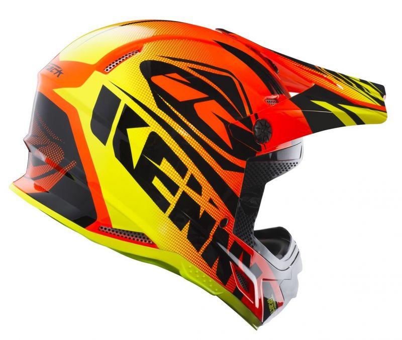 Casque cross Kenny Track orange fluo - 1