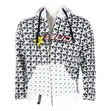 Sweat zippé à capuche Bud RacingRockstar blanc
