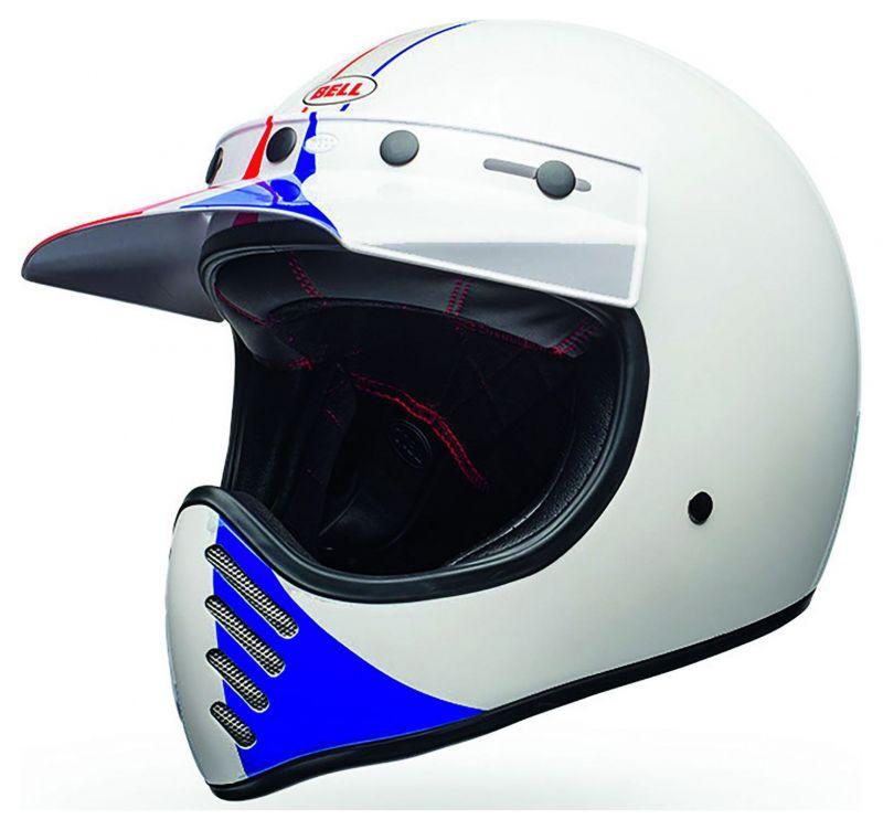 Casque Bell Moto 3 Ace Café GP 66 Gloss blanc/rouge