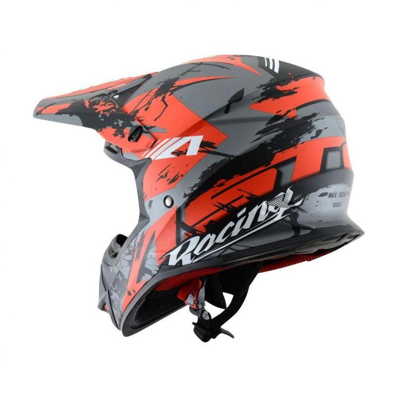 Casque cross Astone MX600 graphic GIANT noir/rouge mat - 1