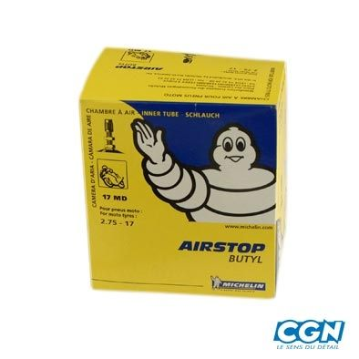 Chambre air 17 michelin 17md valve droite for Chambre a air mobylette