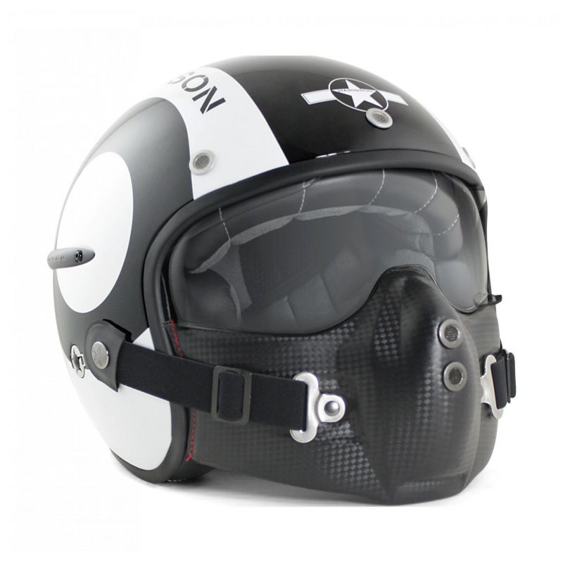 Casque jet Harisson Corsair Snooker noir/blanc - 1