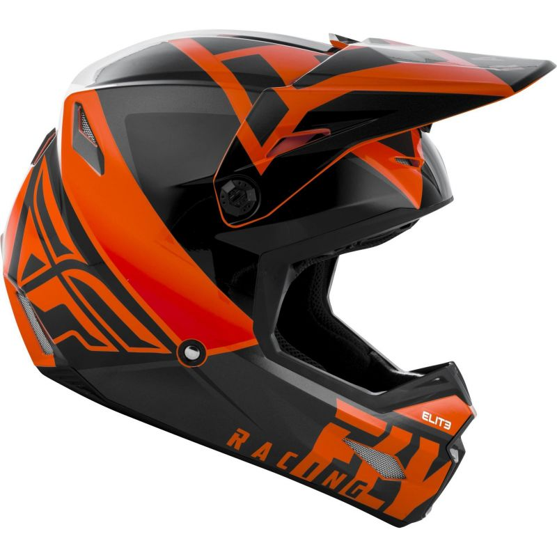 Casque cross Fly Racing Elite Vigilant orange/noir - 1