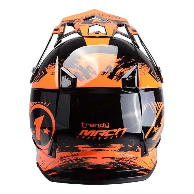 Casque cross Trendy T-902 Mach1 noir / orange - 1