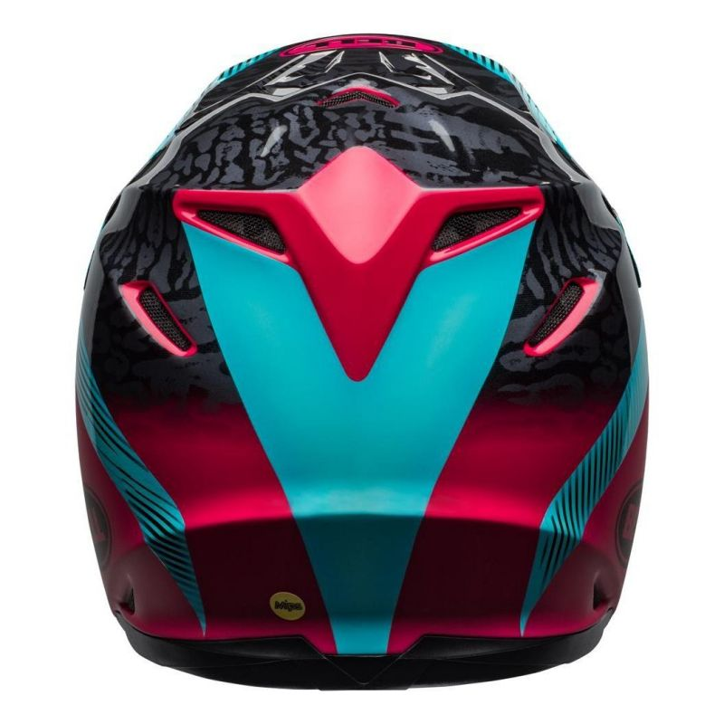 Casque cross Bell Moto-9 Mips Chief noir/rose/bleu - 5