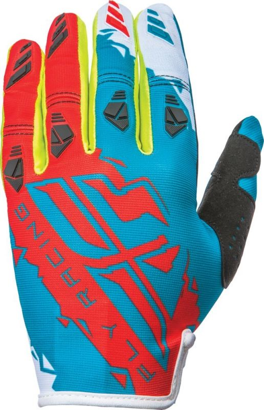 Gants cross Fly Racing Kinetic rouge/bleu - 1