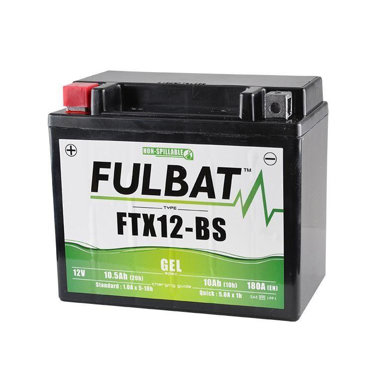 batterie fulbat ytx12 bs gel 12v 10ah pi ces electrique. Black Bedroom Furniture Sets. Home Design Ideas