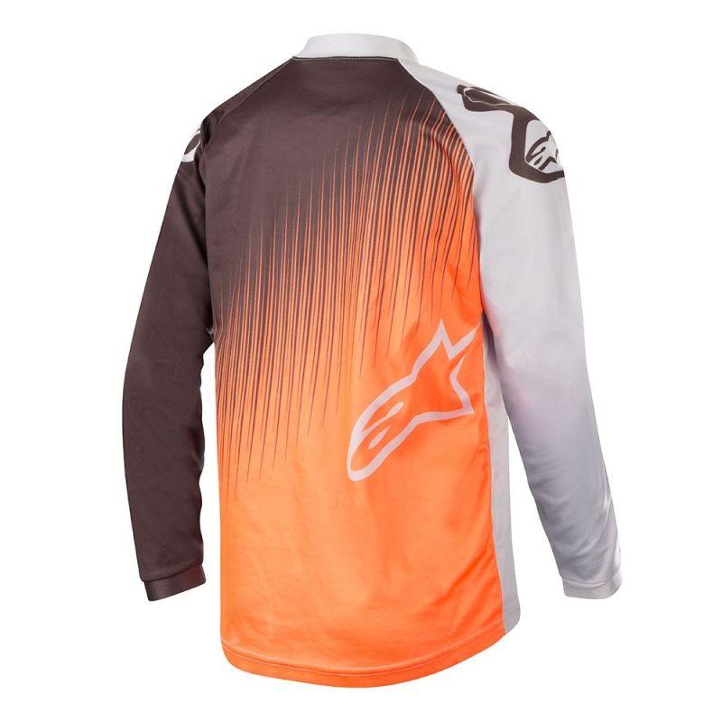 Maillot cross enfant Alpinestars Racer Supermatic gris clair/orange fluo/noir - 1