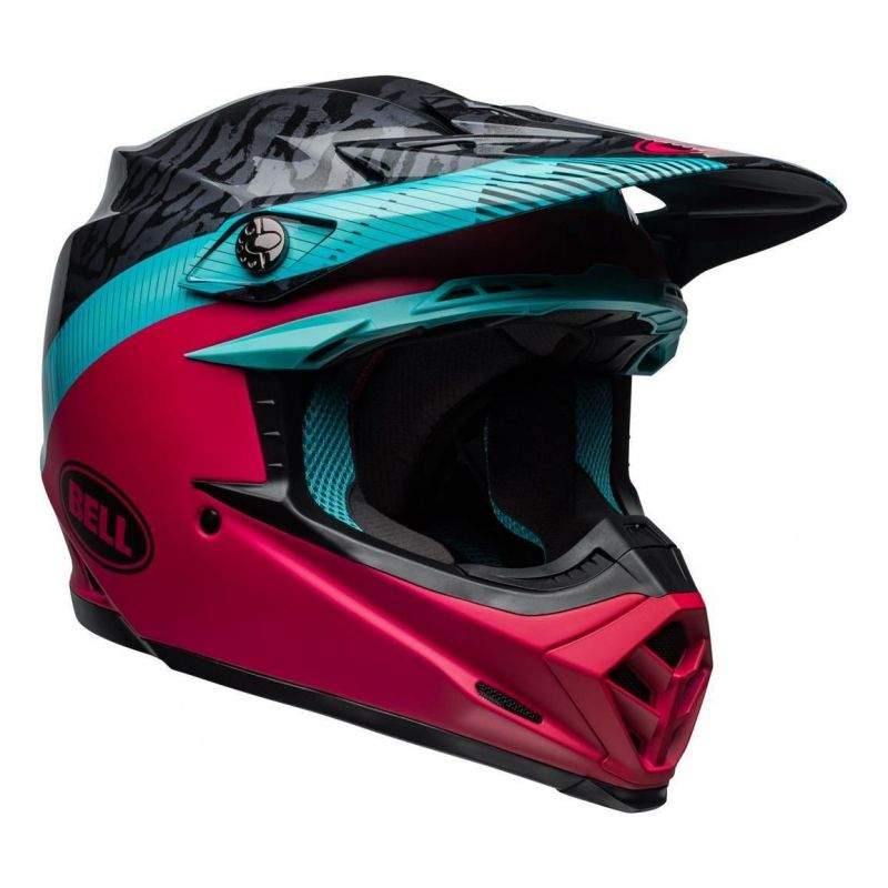 Casque cross Bell Moto-9 Mips Chief noir/rose/bleu - 6