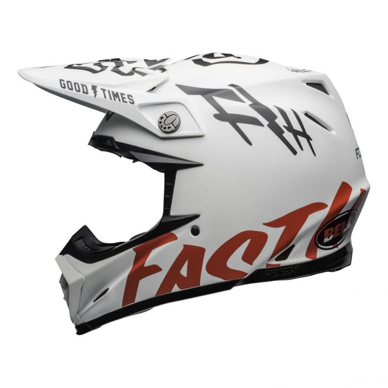 Casque cross Bell Moto 9 Flex Fasthouse WRWF mat/brillant blanc/rouge - 5