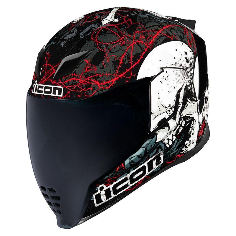 Casque intégral Icon Airflite Skull 18 noir/rouge