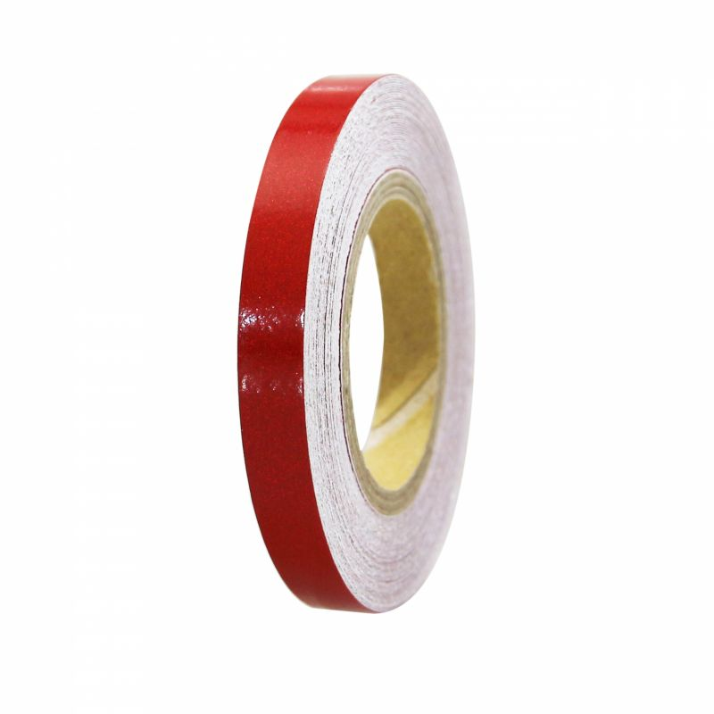Liseret de jante 7mm x 6m rouge avec applicateur - 2