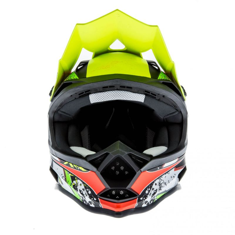 Casque cross Lazer OR1 Aerial carbone/jaune/rouge - 3